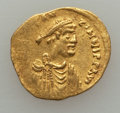 Ancients:Byzantine, Ancients: Constans II (641-668). AV tremissis (1.41 gm)....