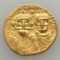 Ancients:Byzantine, Ancients: Constans II & Constantine IV (654-668). AV solidus(4.24 gm)....
