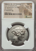 Ancients:Greek, Ancients: THRACIAN ISLANDS. Thasos. Ca. 148-90 BC. AR tetradrachm(16.81 gm). NGC AU 5/5 - 3/5....