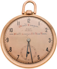 1943 All-Star Game Presentational Pocket Watch Presented to Mort Cooper