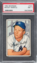 Baseball Cards:Singles (1950-1959), 1952 Bowman Mickey Mantle #101 PSA NM 7. ...