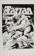 Books:Art & Architecture, [Art Copy]. Al Dellinges, artist. Art Copy Reproducing Joe Kubert's Cover Art for Tarzan, DC-227. 1984....