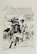 Books:Art & Architecture, [Art Copy]. Al Dellinges, artist. Art Copy Reproducing Joe Kubert's Cover Art for The Return of Tarzan...