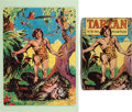 Books:Children's Books, [Games and Puzzles]. Mounted Tarzan of the Apes PicturePuzzle, with Box. Akron, OH: The Saalfield Publishing, C...
