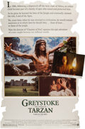 Books:Prints & Leaves, [Movie Memorabilia]. Promotional Cardboard Standee and ChristopherLambert Inscribed Lobby Card from Greystoke The Legen... (Total:2 Items)