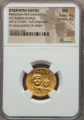 Ancients:Byzantine, Ancients: Heraclius & Heraclius Constantine (613-641). AVsolidus (4.44 gm). NGC MS 4/5 - 4/5....