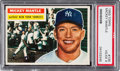 Baseball Cards:Singles (1950-1959), 1956 Topps Mickey Mantle (Gray Back) #135 PSA VG-EX 4....