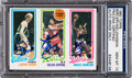 Basketball Cards:Singles (1980-Now), 1980 Topps Bird/Erving/Johnson PSA/DNA Gem MT 10! Signed by All Three! ...