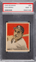 Baseball Cards:Singles (1940-1949), 1949 Bowman Yogi Berra #60 PSA Mint 9 - None Higher. ...