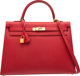 Hermes 35cm Rouge Casaque Epsom Leather Sellier Kelly Bag with Gold Hardware Q Square, 2013