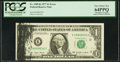 Error Notes:Ink Smears, Fr. 1909-K $1 1977 Federal Reserve Note. PCGS Very Choice New64PPQ.. ...