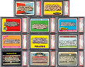 Baseball Cards:Lots, 1960 - 1973 Topps Pittsburgh Pirates Teams Collection (11) - EveryCard PSA Mint 9....