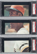 Baseball Cards:Lots, 1972 Puerto Rican Stickers Roberto Clemente (Uncut Panels) CompleteSet (3). ...