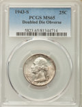 Washington Quarters, 1943-S 25C Doubled Die Obverse, FS-101, MS65 PCGS....