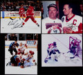 Hockey Collectibles:Photos, Hockey Greats Signed Photographs Lot of 4....