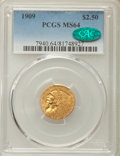 Indian Quarter Eagles: , 1909 $2 1/2 MS64 PCGS. CAC. PCGS Population: (750/234). NGC Census: (787/223). CDN: $1,400 Whsle. Bid for problem-free NGC/...