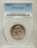 Washington Quarters, 1937-D 25C MS67 PCGS....