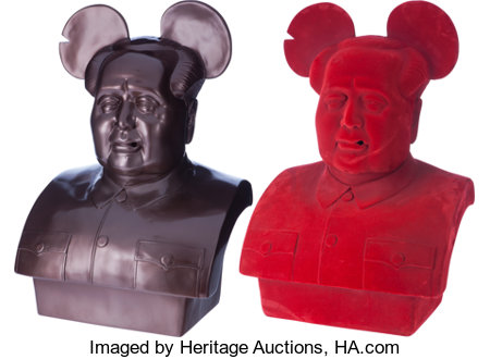 Frank Kozik (b. 1962)The Bird is the Word (Mickey Mao) (two works), circa 2009Fiberglass and vinyl construction27 ... (Total: 3 Items)