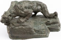 Books:Art & Architecture, John Coleman Burroughs, artist. Cast Bronze Sabre Tooth Tiger Sculpture. [N.d., circa 1934]....