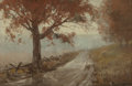 Paintings, Julian Onderdonk (American, 1882-1922). Rainy Day, 1909. Oil on panel. 6 x 9 inches (15.2 x 22.9 cm). Signed lower right...