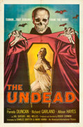 "Movie Posters:Horror, The Undead (American International, 1957). One Sheet (27"" X 41"") Albert Kallis Artwork.. ..."