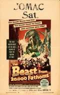 "Movie Posters:Science Fiction, The Beast from 20,000 Fathoms (Warner Brothers, 1953). AutographedWindow Card (14"" X 22"").. ..."