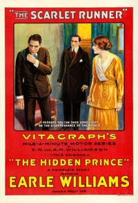 """The Scarlet Runner (Vitagraph, 1916). One Sheet (28 X 41"""") Chapter 4 -- """"The Hidden Prince."""""""