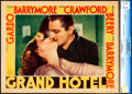 "Movie Posters:Academy Award Winners, Grand Hotel (MGM, 1932). CGC Graded Lobby Card (11"" X 14"").. ..."