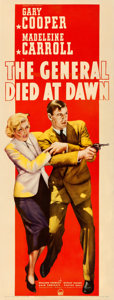 "Movie Posters:Adventure, The General Died at Dawn (Paramount, 1936). Insert (13.5"" X 36"")....."