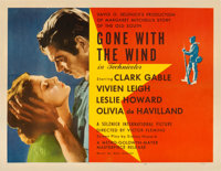 "Gone with the Wind (MGM, R-1947). Half Sheet (22"" X 28"") Style A. Academy Award Winners"