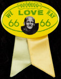 Football Collectibles:Others, Early 1970's Ray Nitschke Day at Lambeau Field Pinback Button....