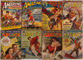 Books:Periodicals, [Periodicals.] Edgar Rice Burroughs. Group of Eight SerializedMars Stories in Argosy Weekly and Amazing Stori... (Total: 8Items)