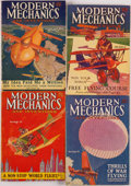 Books:Periodicals, [Periodicals.] Edgar Rice Burroughs. Four Part Serializations ofPrincess of Mars. Minneapolis: Modern Mecha... (Total: 4Items)