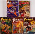 Books:Periodicals, [Periodicals.] Edgar Rice Burroughs. Four Part Serialization ofEscape on Venus in Fantastic Adventures. [and:] ... (Total:5 Items)