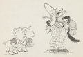 Animation Art:Production Drawing, The Three Little Wolves Animation Drawing (Walt Disney,1936)....