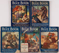 Books:Periodicals, Edgar Rice Burroughs. Five Part Serialization of Land of HiddenMen. Blue Book Magazine, 1931.... (Total: 5 )