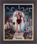 Autographs:Celebrities, Johnny Weissmuller Signed Limited Edition Print. Nostalgia Merchant, 1977....