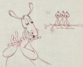 Animation Art:Production Drawing, The Reluctant Dragon Animation Drawing (Disney, 1941)....