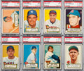 Baseball Cards:Lots, 1952 Topps Baseball PSA Graded Collection (14) With HoFers. ...