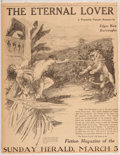 Books:Art & Architecture, Dorothy Dulin, artist. Early Newspaper Announcement Burroughs' The Eternal Lover. Chicago Herald, 1916....