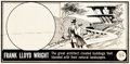 Original Comic Art:Miscellaneous, Famous Americans Stamp Frank Lloyd Wright Original Art andProduction Materials Group of 4 (Topps, 1962)... (Total: 4 Items)