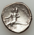 Ancients:Greek, Ancients: CALABRIA. Tarentum. Ca. 280-272 BC. AR didrachm (6.50gm)....
