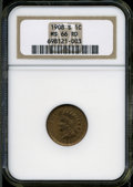 Indian Cents: , 1908-S 1C MS66 Red NGC. ...