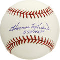 Autographs:Baseballs, Harmon Killebrew Single Signed Baseball. Playing most of his bigleague career with the Twins, and voted into the Hall of F...