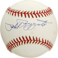 "Autographs:Baseballs, Phil Rizzuto Single Signed Baseball. Elected to the Hall of Fame in1994, Phil ""Scooter"" Rizzuto played his entire major le..."