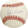 Autographs:Baseballs, Hank Aaron Single Signed Baseball. Awards and accolades for HankAaron can scarcely be mentioned in the space allowed, but ...