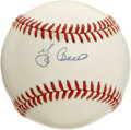 Autographs:Baseballs, Yogi Berra Single Signed Baseball. Having played almost his entirecareer in the New York Yankee pinstripes, Berra was also...