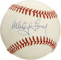 Autographs:Baseballs, Whitey Ford and Ron Guidry Single Signed Baseballs Lot of 2. Linkedby the team they pitched for, Whitey Ford and Ron Guidr...