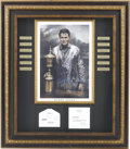 Golf Collectibles:Autographs, Bobby Jones signed letter and Framed Display. Bobby Jones is considered the greatest golfer ever. The 1930 winner of the Gra...