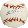 "Autographs:Baseballs, Bob Lemon and Tom Henrich Single Signed Baseball Lot of 2. TomHenrich was know as ""Clutch"" for his ability to be counted o..."
